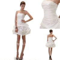 Astergarden Hottest Strapless White Taffeta Cocktail Dress AS085