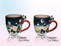 2012 Ceramic Christmas Santa Cup decorations