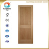 Interior engineered red oak veneer wood door design