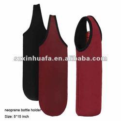 (XHF-TOOL-029)promotional insulated neoprene wine bottle cooler neoprene bottle holder for wine beer