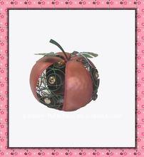 Metal Pumpkin With Arcylic Decor