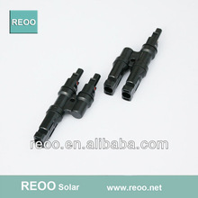 PV connector MC4 T branch, nicke copper material