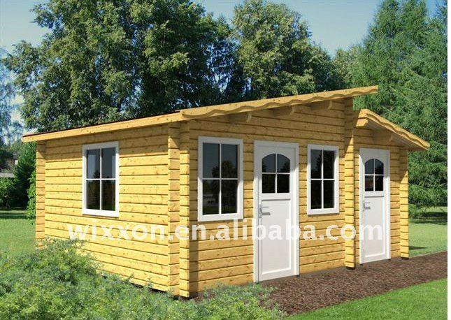 Peque o ocio de jard n de madera casa casas prefabricadas - Casa de madera jardin ...
