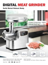 Hot-selling All Die-Casting Aluminum Electric Meat Grinder