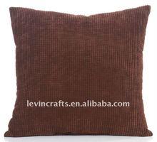 13040305 Square Coffee Corduroy Throw Pillow / Cushion