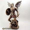 Escultura occidental del bronce del molde o de la estatua del ángel del latón