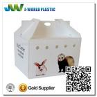 Foldable convenient PP corrugated plastic pet carrier