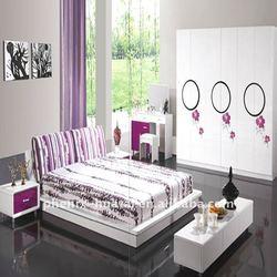 MDF modern king size adult bedroom furniture