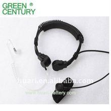 Acoustic tube two way radio headset/walkie talkie earpiece throat microphone for motorola/kenwood/icom/maxton radio