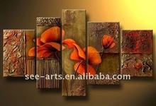 modern canvas art large flower painting