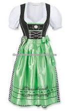Custom Midi Dirndl with blouse & apron / Trachten Dirndl Dress / Traditional Bavarian Dirndl