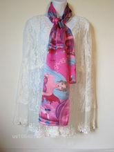 "Silk Satin Scarf ""Janet"" Silk Scarves 100% Silk Satin Style # JSS060"