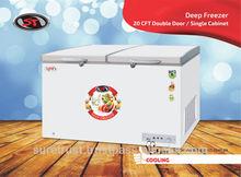 Chest Freezer Double Door Single Cabin 20CuFt