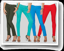 Ladies Coloured Stretch Denim or Twill