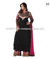 Designer Long Salwar Kameez   Hand Designs Salwar Kameez   Latest Hand Work Salwar Kameez Designs