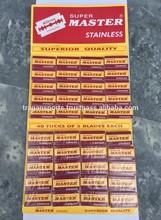 Alta calidad Double Edge hojas de afeitar, Double Edge Safety Razor blades, cuchillas de afeitar desechable envío gratis 200 cuchillas