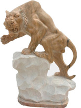 Garden Stone Tiger Sculpture