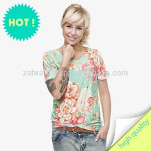 t-shirt fullprint 3D print digital print MINT FLOWER size: S M L XL