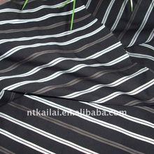 100 cotton black white stripe fabric (KL110677)