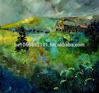 original unique oil painting Landscape Ardennes 8841
