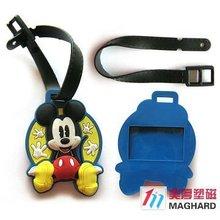 3d soft pvc magnetic bag tag name tag