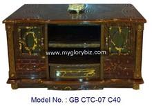 New design living room modern corner wooden tv cabinet