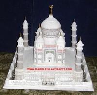 Hand Carved Marble Taj Mahal Replica