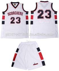 Fashionable Custom Basketball Uniform Top Quick Dry / wholesale men basketball jersey