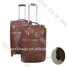 PU leather trolley luggage