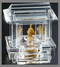 Optical glass classics palace design Crystal music box