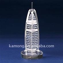 Perfect nice crystal building model for Burj Al-Arab hotel souvenirs, Dubai souvenirs