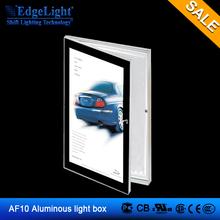 Edgelight AF10 led light box sign single side door open type