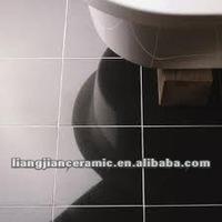 black ceramic floor tile LJ606
