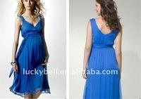 Hot Sale New Custom-made Plus size Blue Maternity Dresses