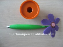 silicone flower pen with vase