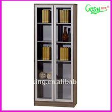 Most modern teak file cabinet,book shelf with glass doors