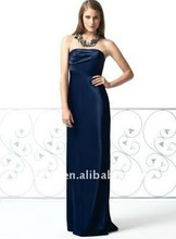 Classic Simple Design Sheath/Column Strapless Dark Blue Convertible Bridesmaid Dress BD-C029