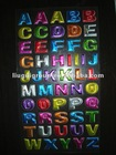 3d glitter puffy alphabet sticker