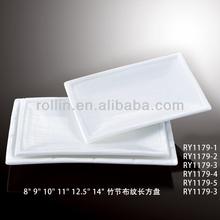 fine chinese white rectangular hotel porcelain factory