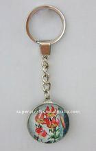 HOT SALE Fashion Glass Key Chain,with LOGO