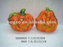 hollow ceramic pumpkin craft