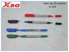 CD marker set , 4 color pcs per PVC bag , two tip in 1 pen