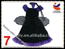 Halloween jersey witch costume with wings