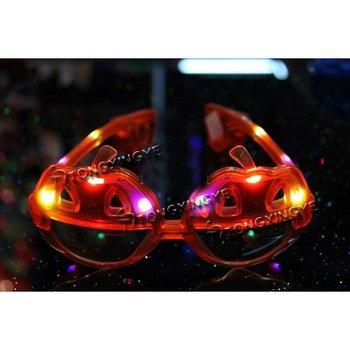 Led glass LED Pumpkin Glasses For Halloween Decoration