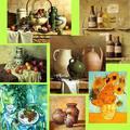 Pinturas al óleo de naturaleza muerta/ Pinturas en lienzo de arte famoso/Pinturas artísticas modernas de naturaleza muerta