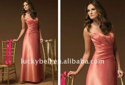 Discount Stunning Sleeveless A-Line Pink Satin Wedding Dress