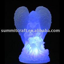 LED small resin Angel Figurine
