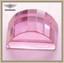 pink semi-precious shining bridge cz stone
