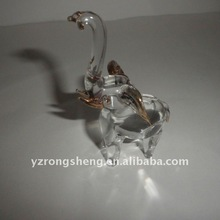 Elephant Shaped Glass Craft