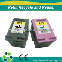 Hot seller compatible ink cartridge for hp 802,usd 1.0~7.0